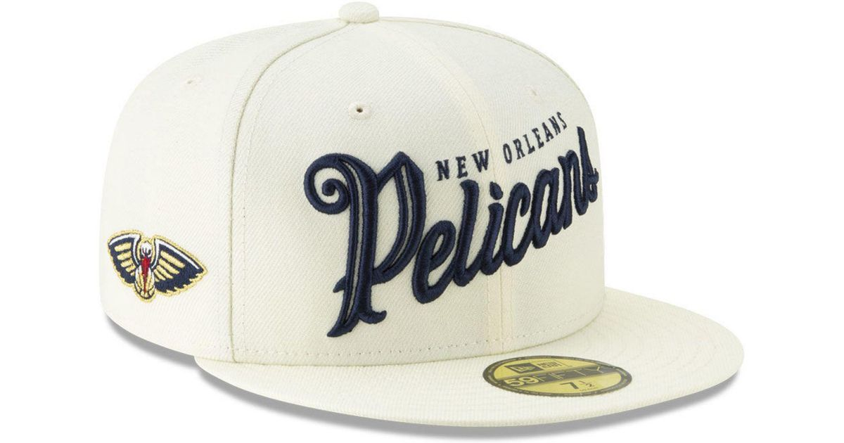 huge discount 4d371 0ebd2 KTZ New Orleans Pelicans Jersey Script 59fifty-fitted Cap in Natural for Men  - Lyst