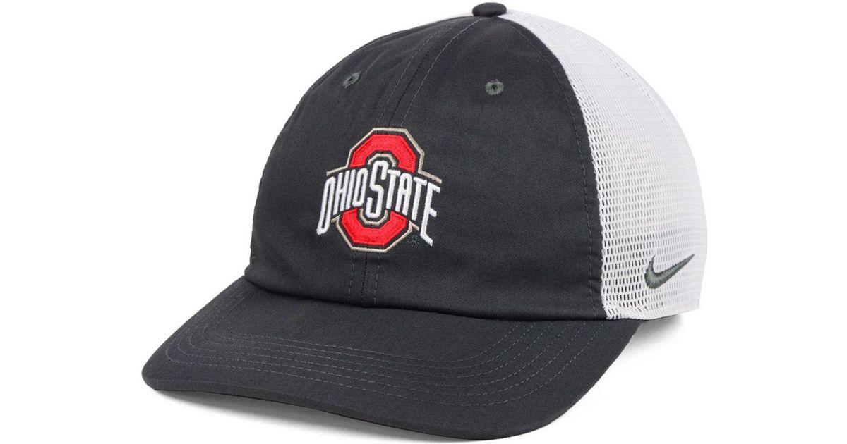 40cefd72a42 Lyst - Nike Ohio State Buckeyes H86 Trucker Snapback Cap for Men