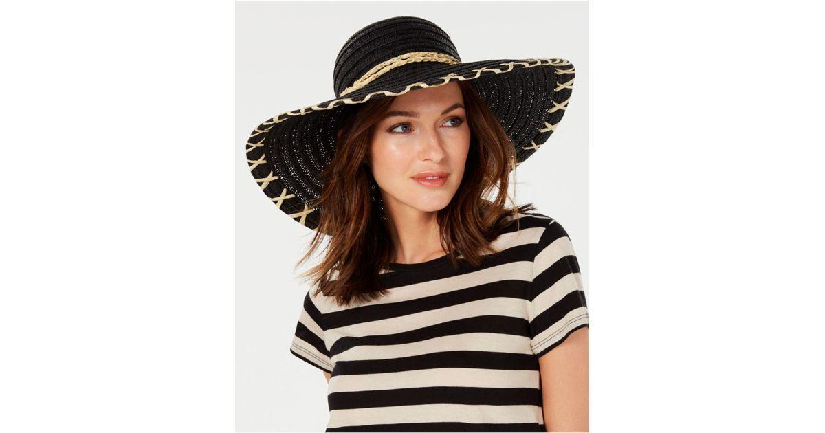 4da15c9cc Calvin Klein - Black Whipstitch Sun Hat - Lyst