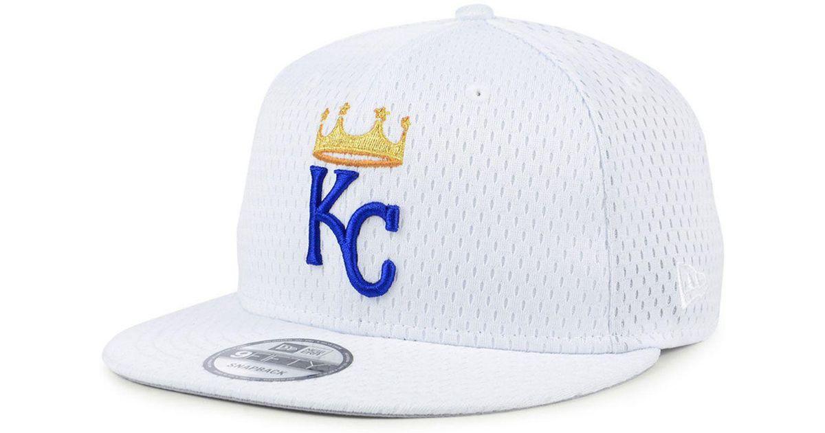 superior quality 6eb6e 6446f wholesale lyst ktz kansas city royals batting practice mesh 9fifty snapback  cap in white for men