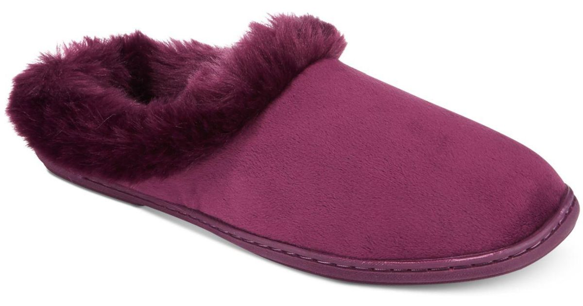 34b832d0ecb Lyst - Charter Club Microvelour Clog Slippers in Purple