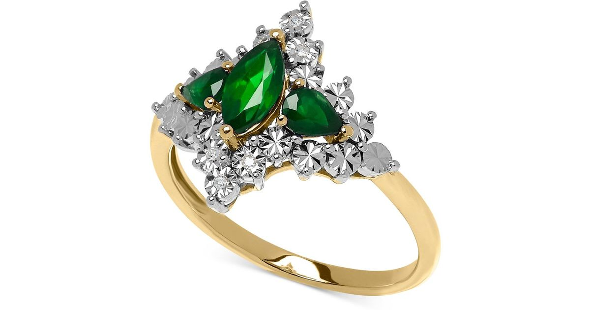 macy s emerald 5 8 ct t w and accent
