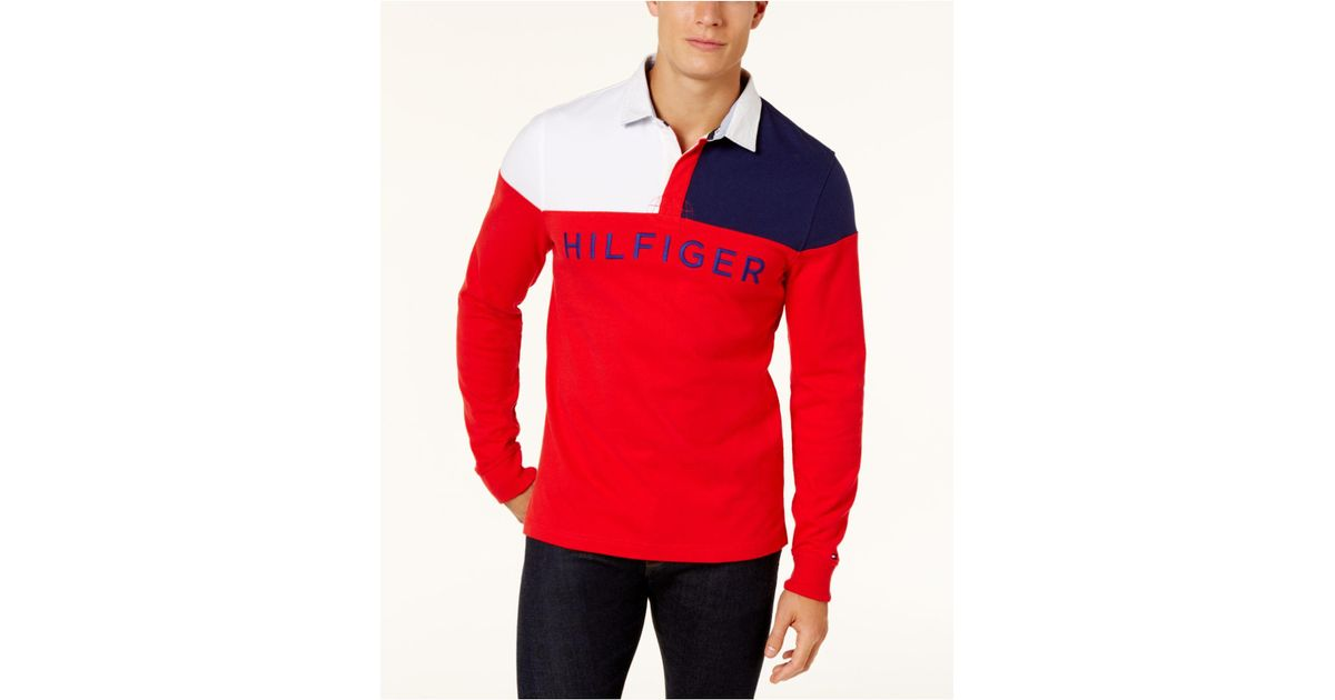 73d09796 Tommy Hilfiger Men's Harbor Rugby Shirt in Red for Men - Lyst