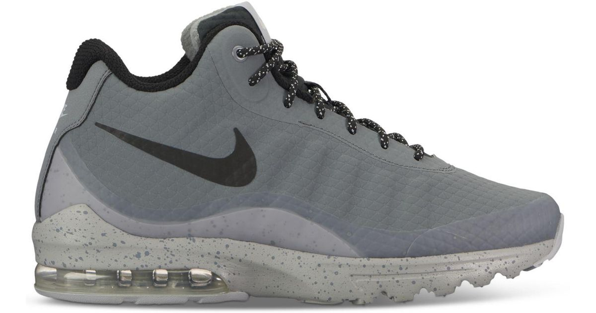 finest selection c2910 01efd Lyst - Nike Mens Air Max Invigor Mid Running Sneakers From Finish Line in  Gray for Men