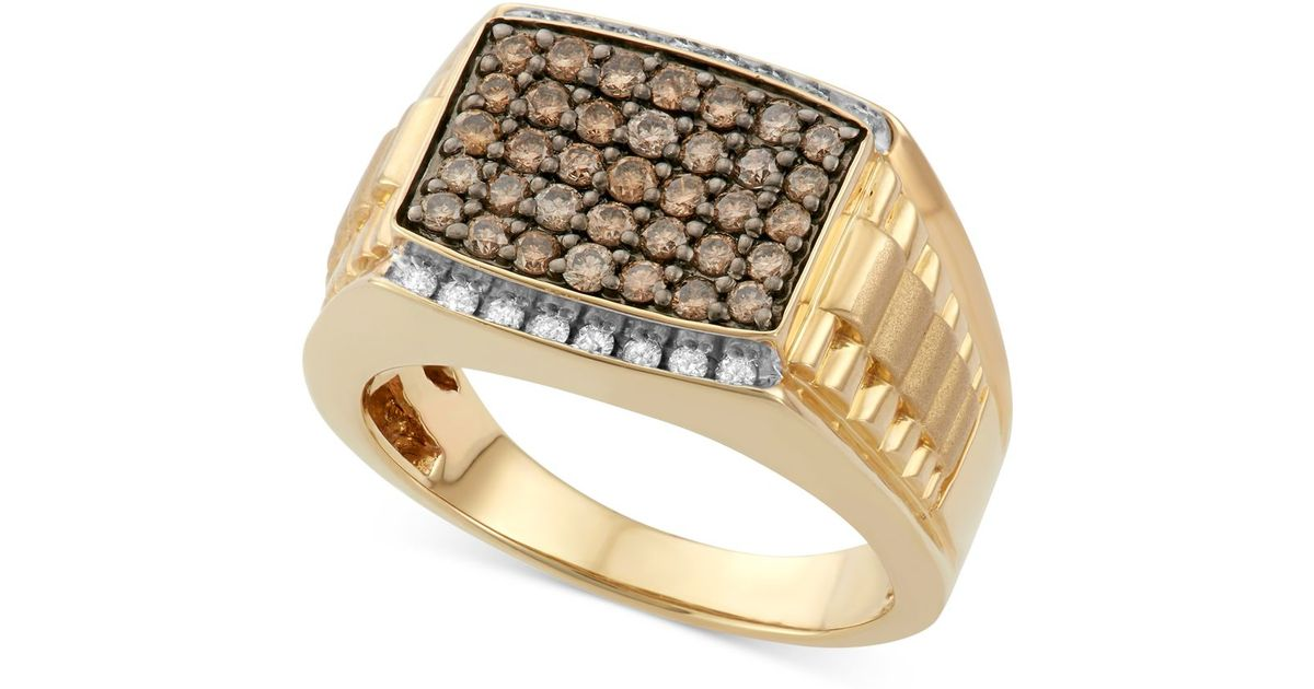 Macy s Men s Diamond Ring 1 Ct T w In 10k Gold in Metallic for Me