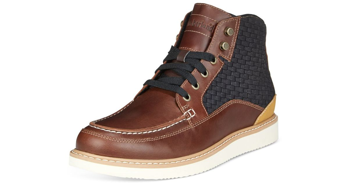 5fa6c27e69b4f Lyst - Timberland Men s New Market Woven Panel Boots in Brown for Men