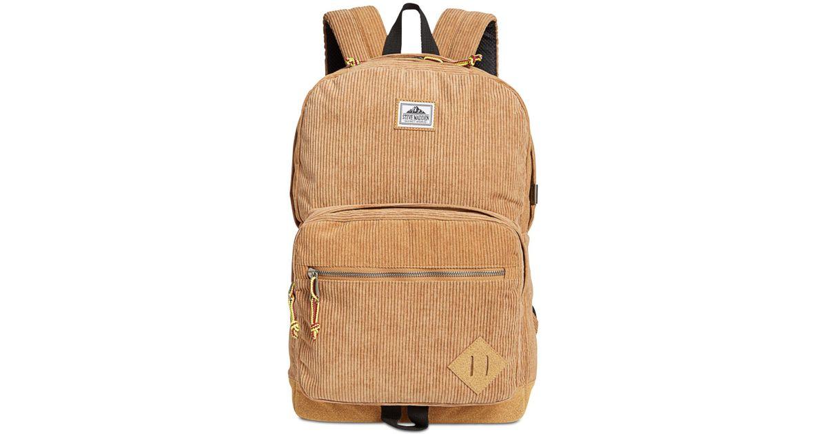 6359b8212940 Steve Madden Corduroy Backpack for Men - Lyst