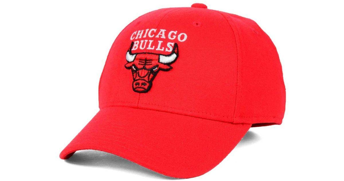 9703771b0b9 Lyst - Adidas Originals Chicago Bulls Structured Basic Flex Cap in Red for  Men