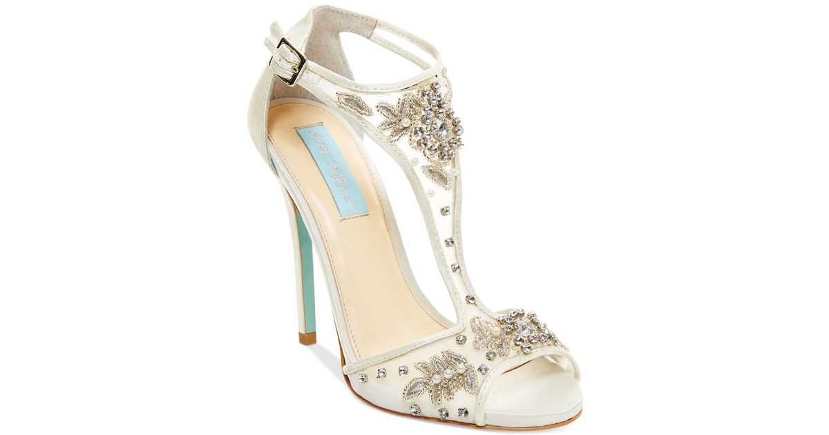 betsey johnson evening sandals in white lyst