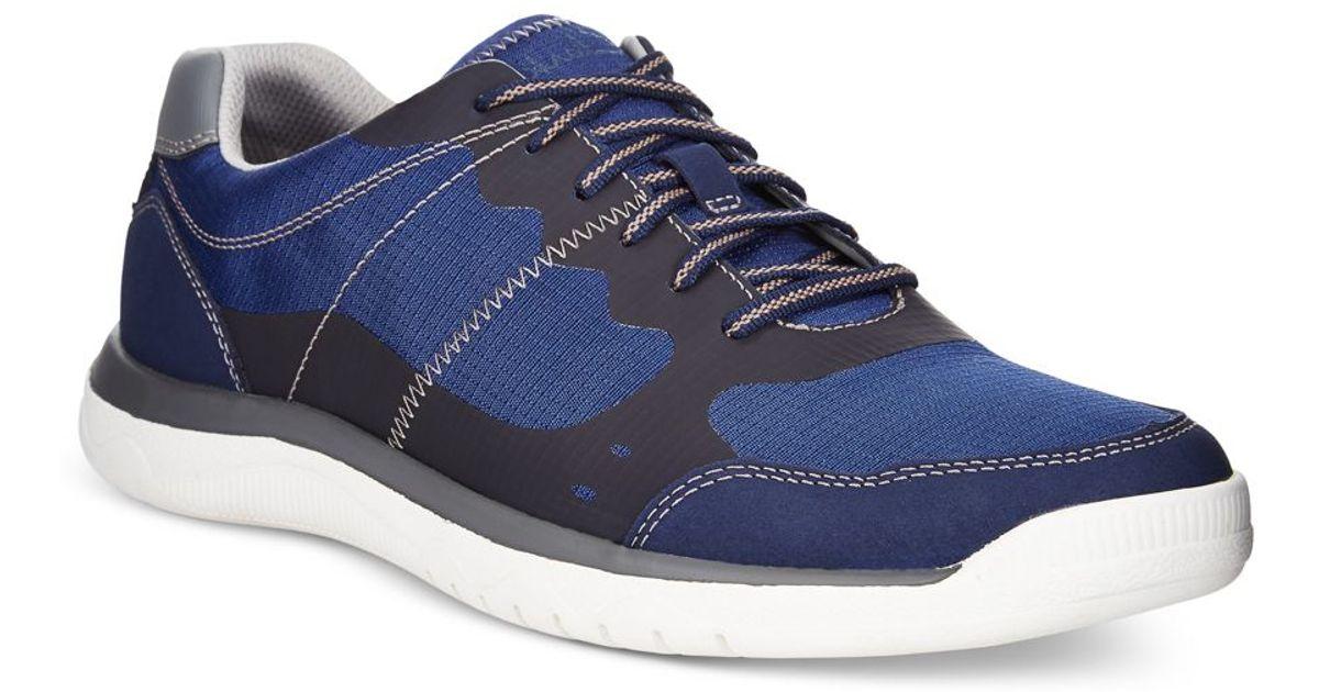 Clarks Men S Cloud Steppers Votta Edge Sneaker In Blue For