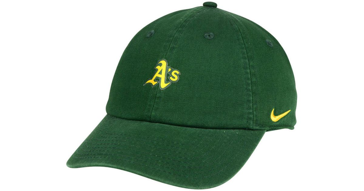 best sneakers ff33c f74f9 ... australia lyst nike oakland athletics micro cap in green for men 3bd07  1dae9 ...