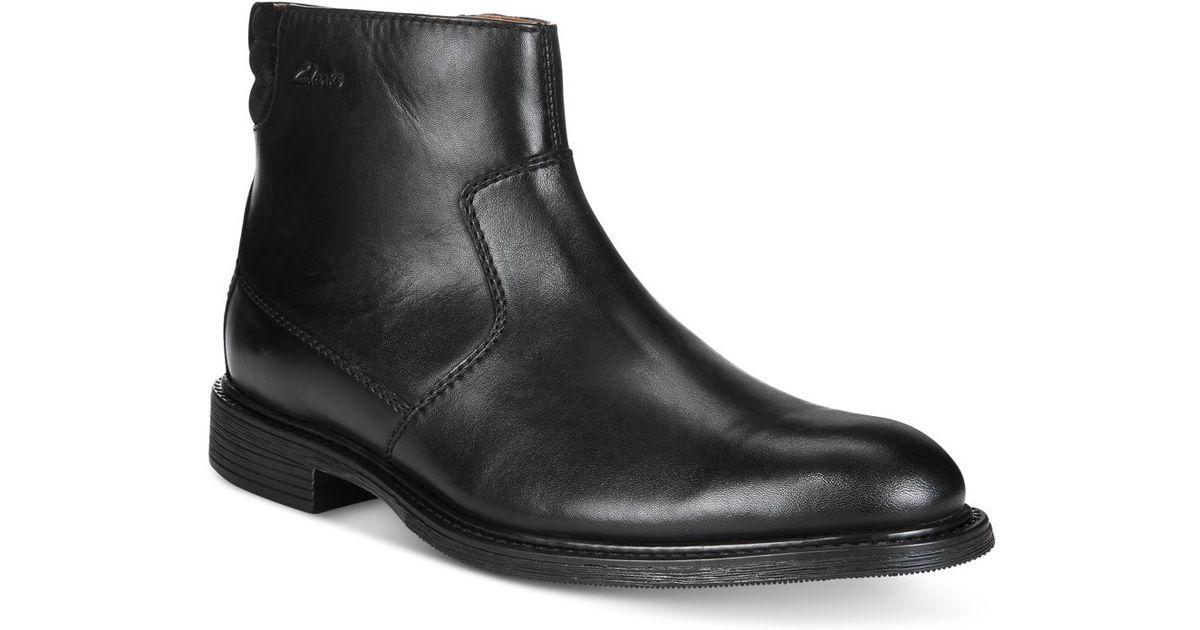 Clarks Men's Edmen Rise Waterproof Boots in Black for Men ...