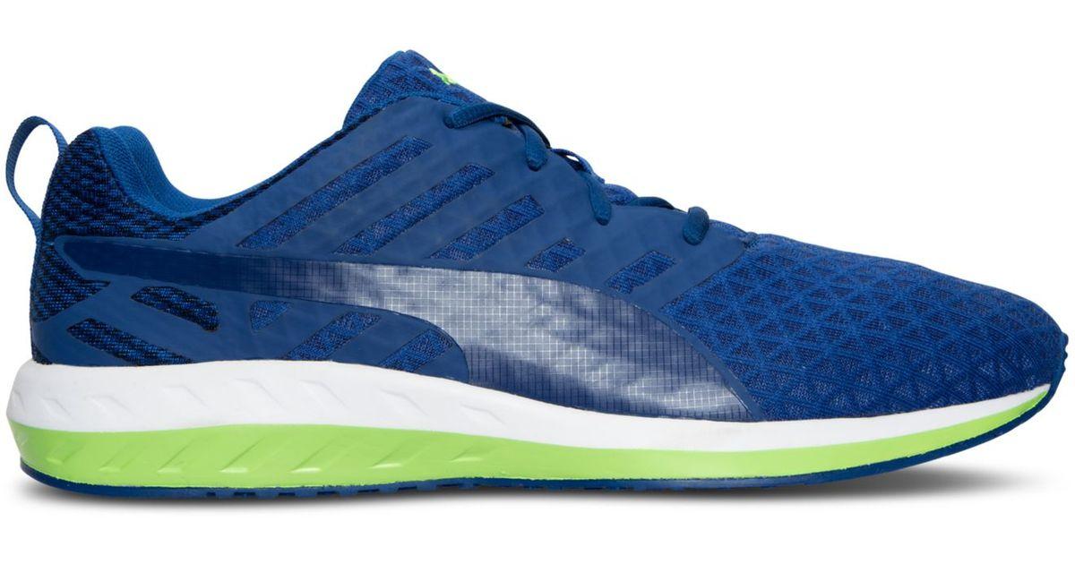 471dd8a49e0fff Lyst - PUMA Men s Flare Q2 Flint Running Sneakers From Finish Line in Blue  for Men