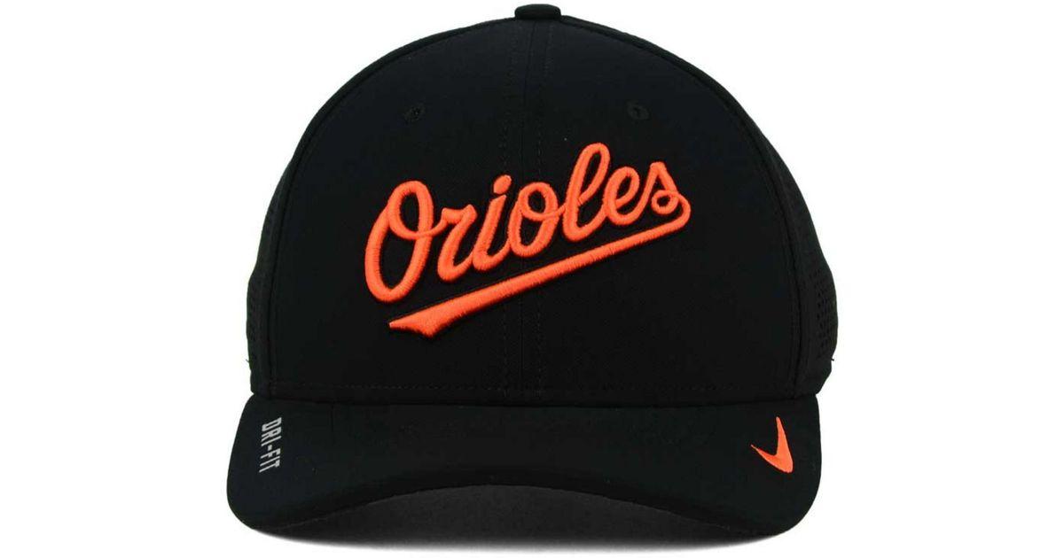 b2ee1552c72 Lyst - Nike Baltimore Orioles Dri-fit Vapor Classic Swoosh Flex Cap in Black  for Men