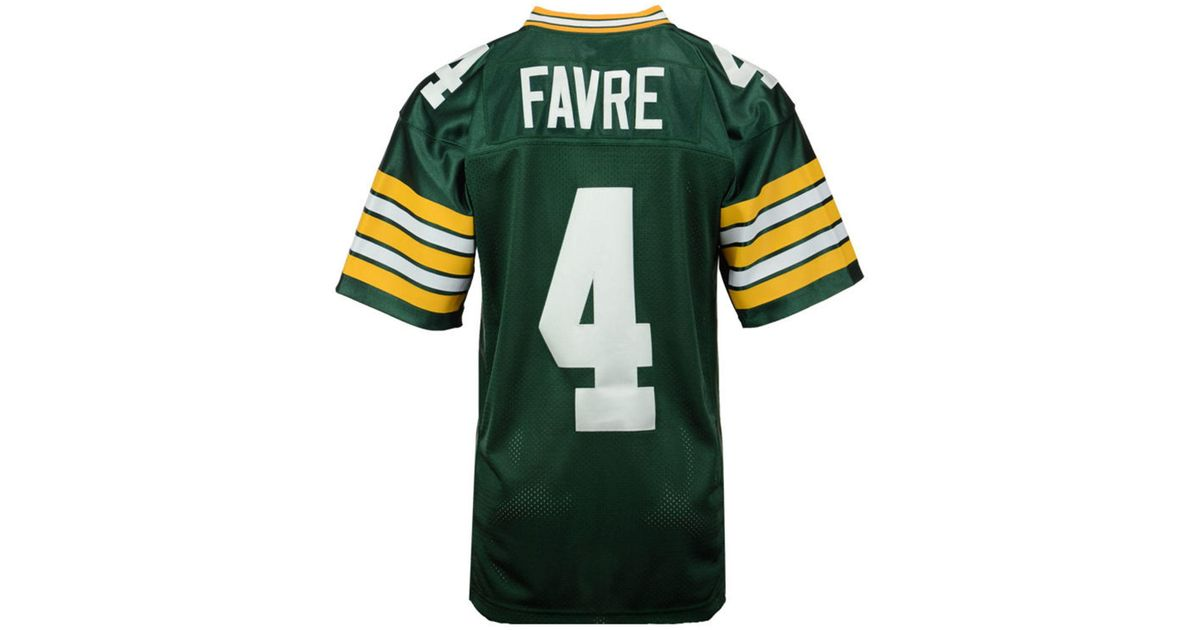 hot sale online dfc2f b06f3 Mitchell & Ness - Brett Favre Green Bay Packers Authentic Football Jersey  for Men - Lyst