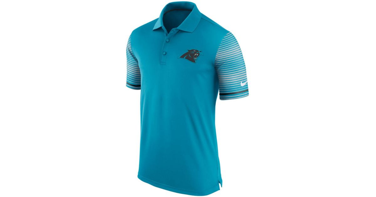 Nike Men 39 S Carolina Panthers Early Season Polo Shirt In