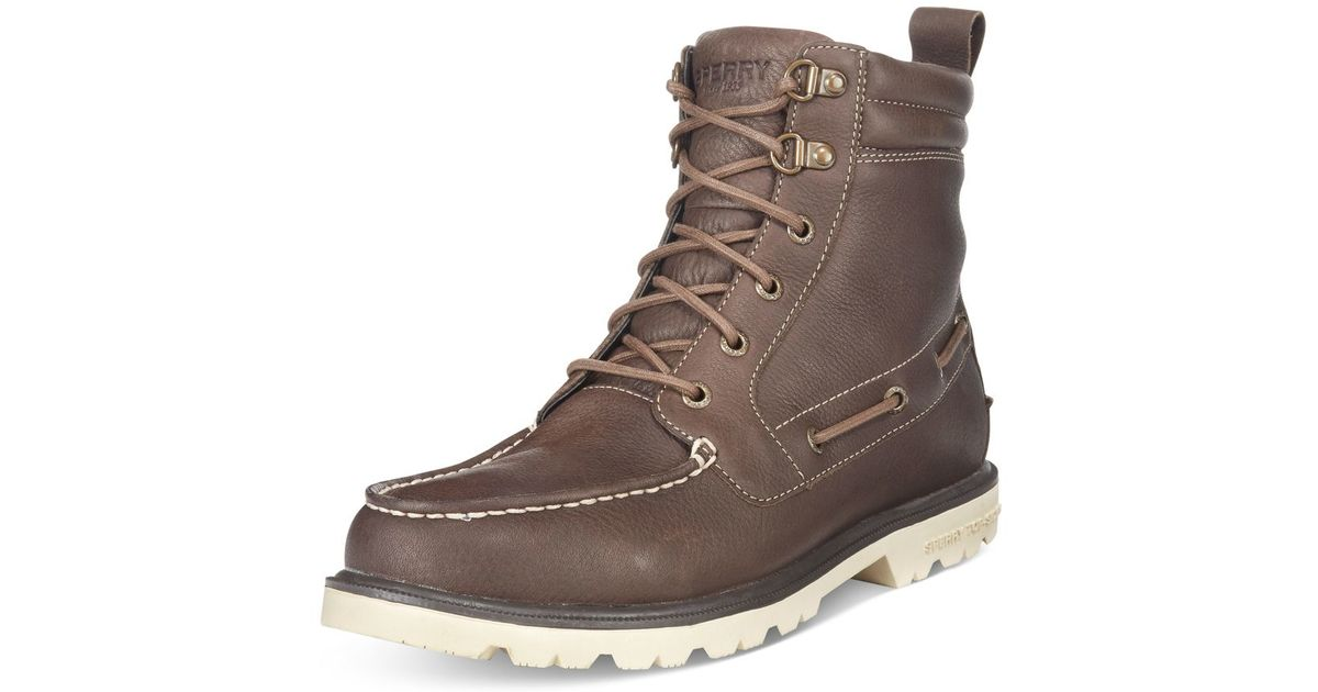 Sperry Top Sider Men S A O Lug Waterproof Boots In Brown