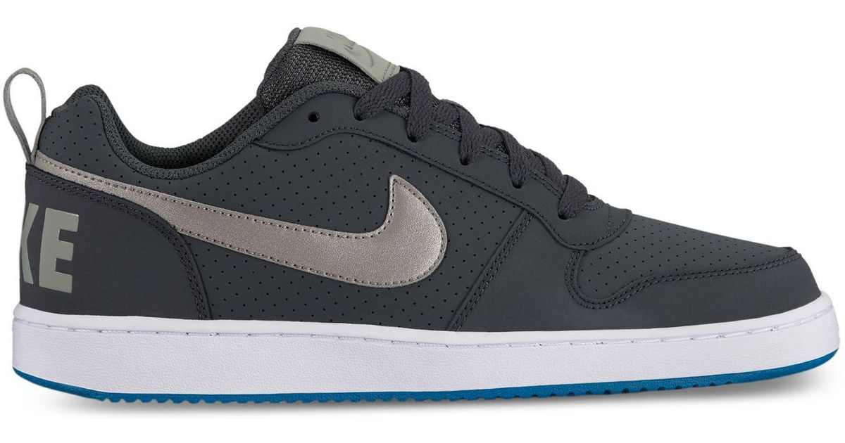best website d5855 1f7b9 Lyst - Nike Mens Court Borough Low Premium Casual Sneakers From Finish  Line in Blue for Men