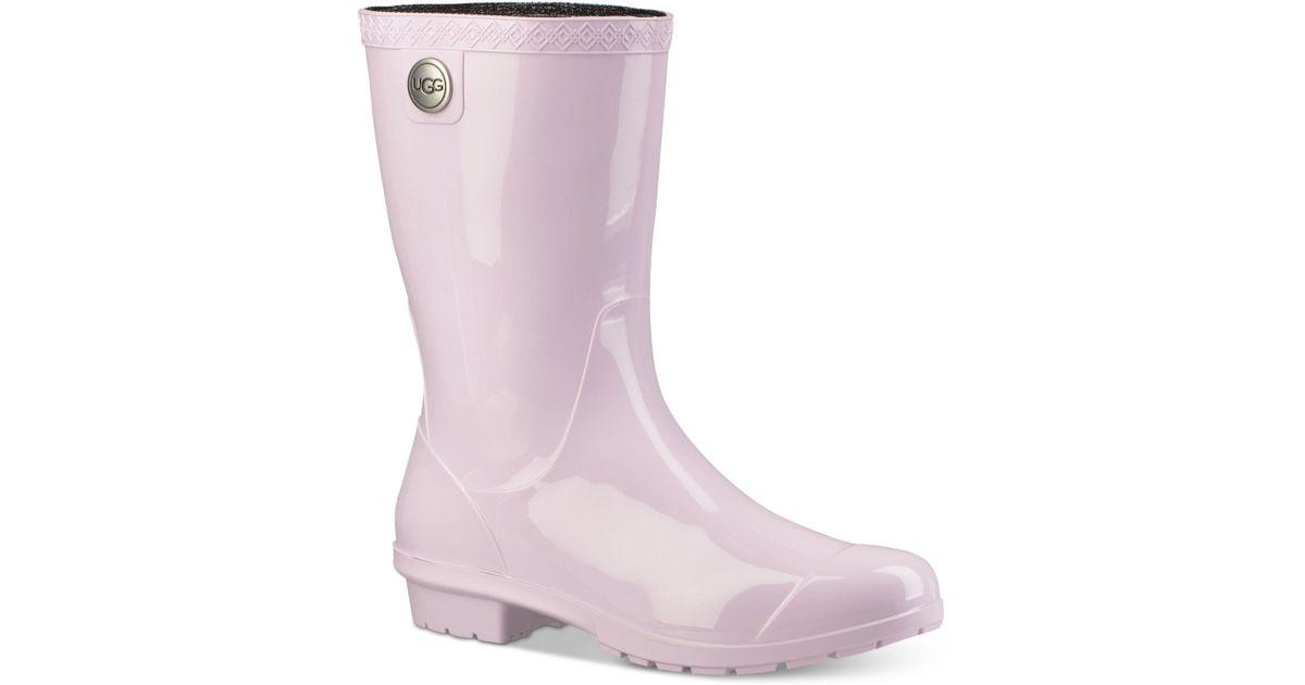 f321c31f850 Ugg - Purple Sienna Mid Calf Rain Boots - Lyst