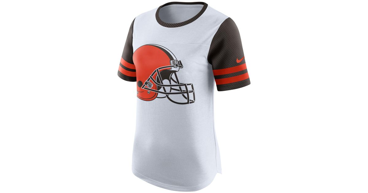 outlet store c1f7c bc865 Nike - Black Women's Cleveland Browns Gear Up Fan Top T-shirt - Lyst