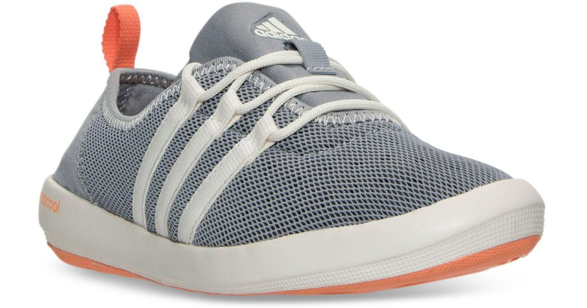 on sale f1f13 b2f0d Adidas Originals - Gray Women's Terrex Climacool Boat Sleek Outdoor  Sneakers From Finish Line - Lyst