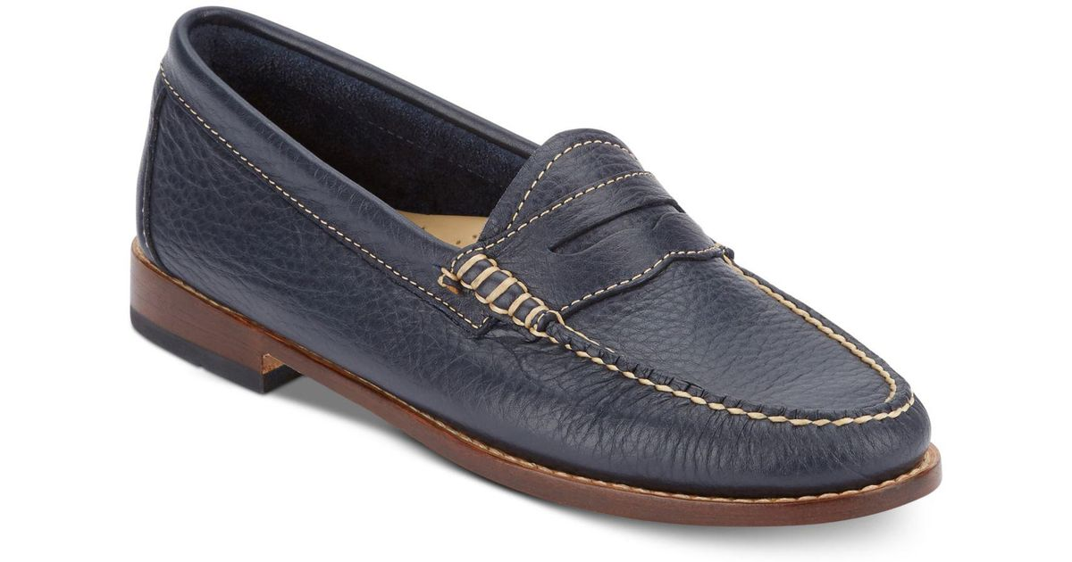 2e9d098ee1e Lyst - G.H.BASS Women s Weejuns Whitney Penny Loafers in Blue