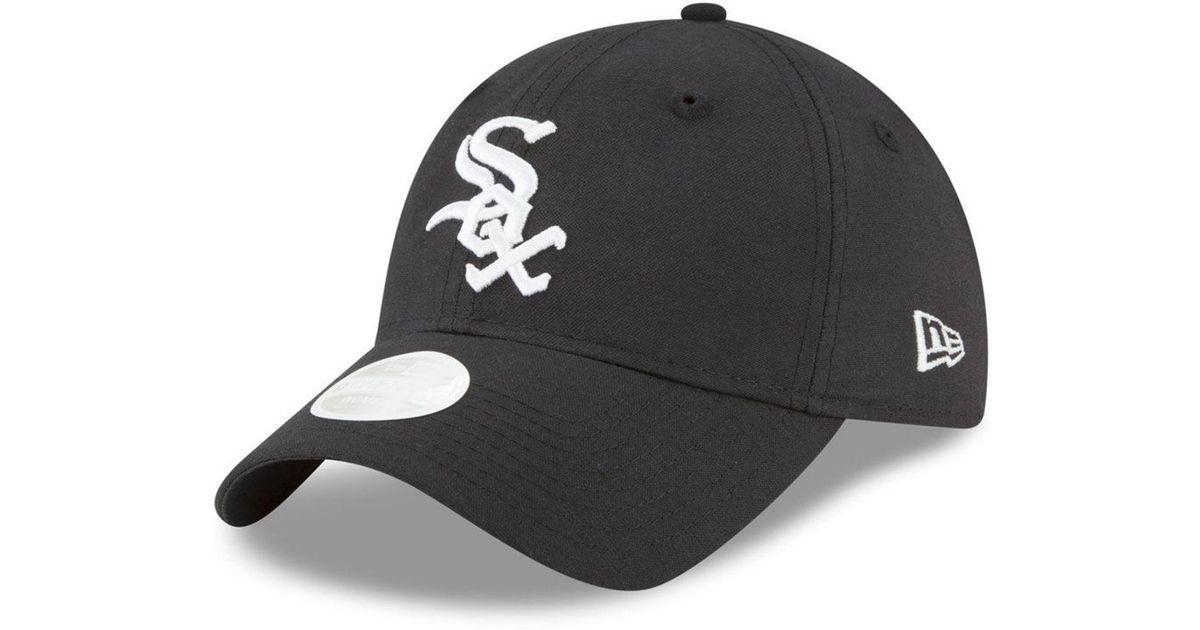 buy popular b0022 68453 ... coupon lyst ktz chicago white sox team linen 9twenty strapback cap in  black for men d5178
