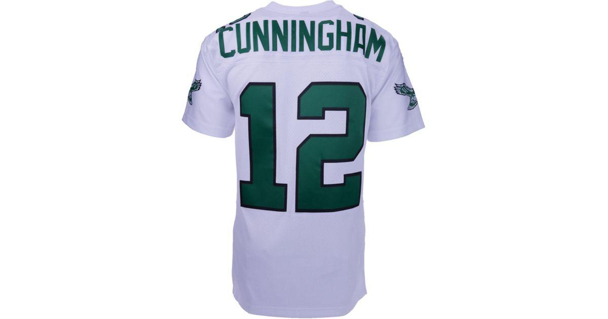 b578bb9a Mitchell & Ness Men's Randall Cunningham Philadelphia Eagles Replica  Throwback Jersey in White for Men - Lyst