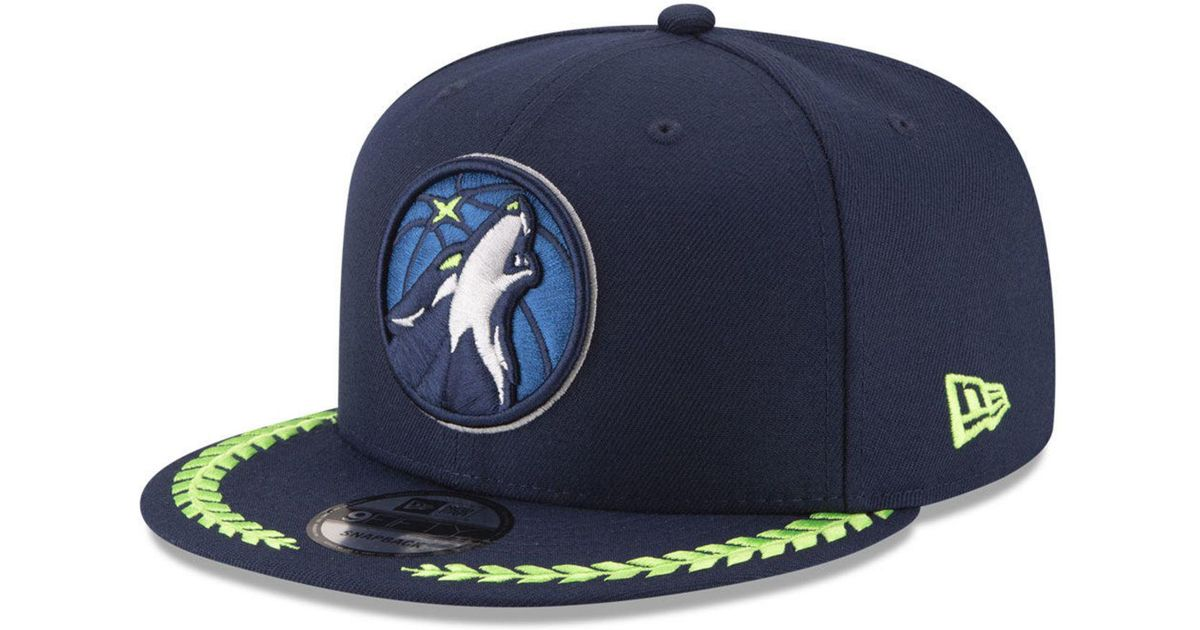 sports shoes 6d2fc b5651 KTZ Minnesota Timberwolves Destroyer 9fifty Snapback Cap in Blue for Men -  Lyst
