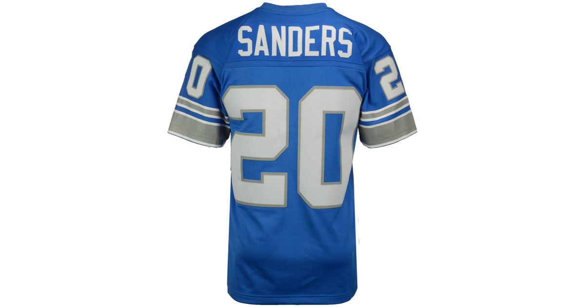 10f73c136c3 Mitchell & Ness Men's Barry Sanders Detroit Lions Replica Throwback Jersey  in Blue for Men - Lyst