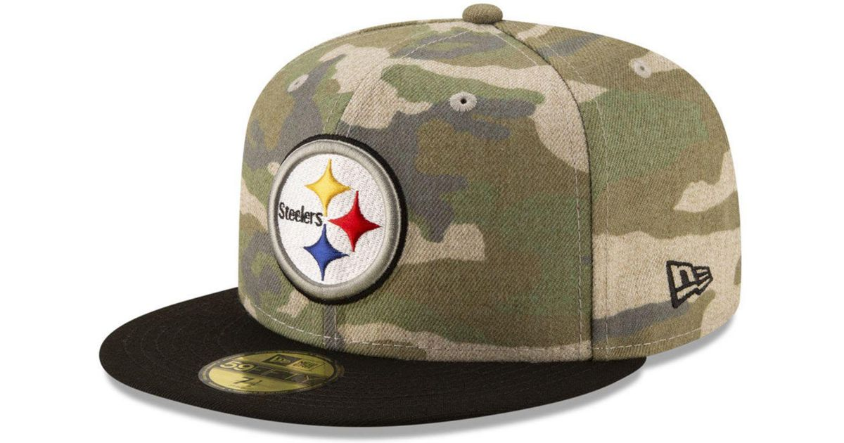 0153ec3dc7a Lyst - KTZ Pittsburgh Steelers Vintage Camo 59fifty Fitted Cap in Green for  Men