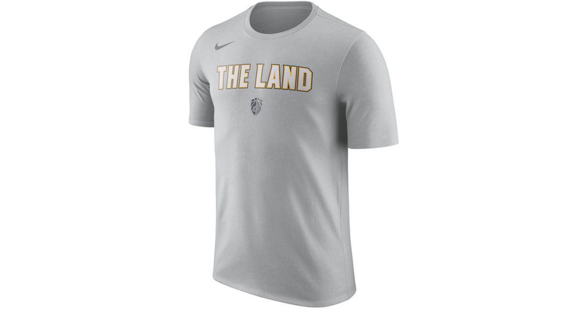 size 40 1c064 67c9b Nike - Gray Cleveland Cavaliers City Team T-shirt for Men - Lyst