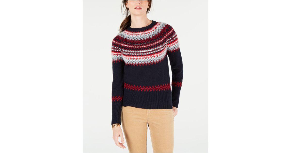 f8def1071 Lyst - Tommy Hilfiger Sequin Fair Isle Sweater