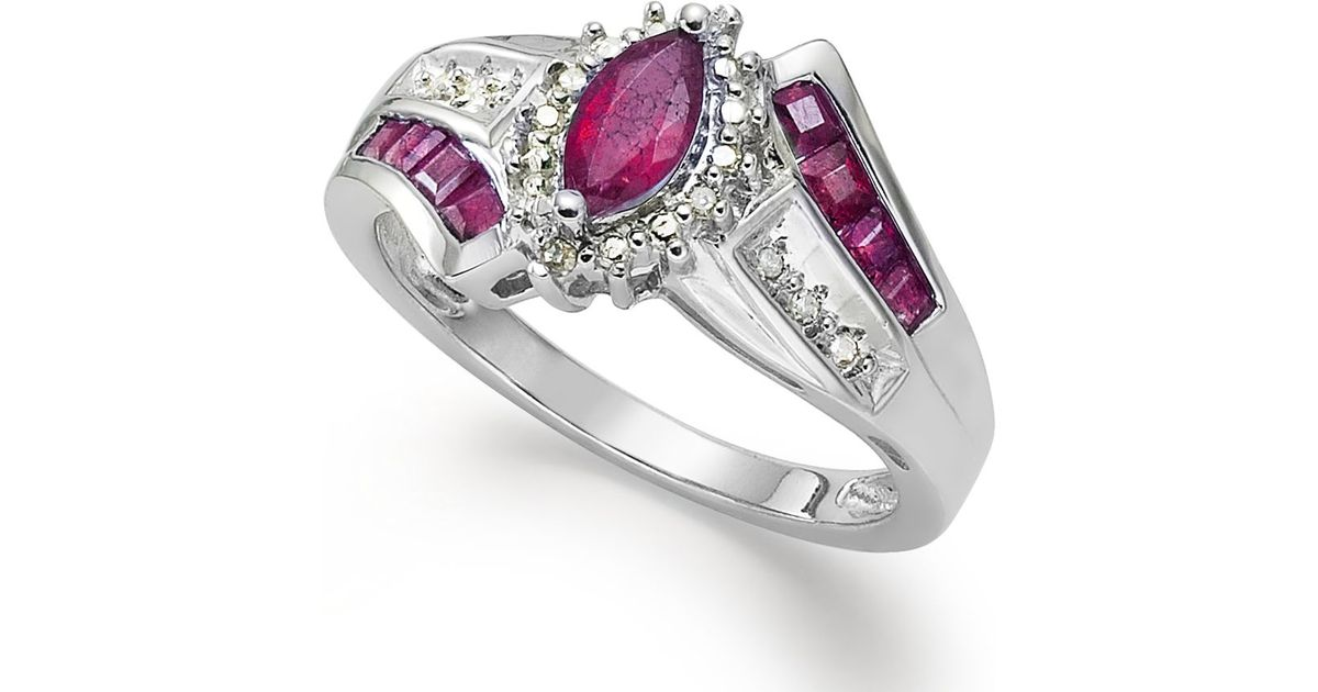 Macy S Gemstone 1 1 5 Ct T W And Diamond Accent Ring