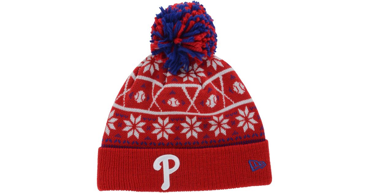 a2ee12338 Lyst - KTZ Philadelphia Phillies Sweater Chill Pom Knit Hat in Red for Men