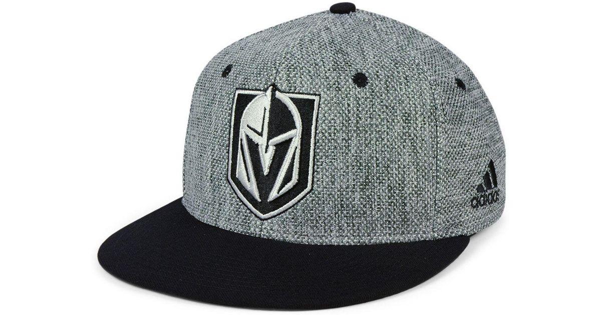 8636ed53 adidas Vegas Golden Knights Heathered Flex Cap for Men - Lyst