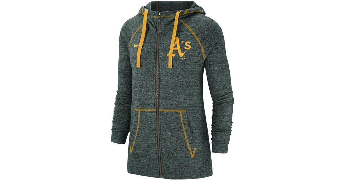 354480aa5f3b Lyst - Nike Oakland Athletics Gym Vintage Full-zip Hooded Sweatshirt in  Green