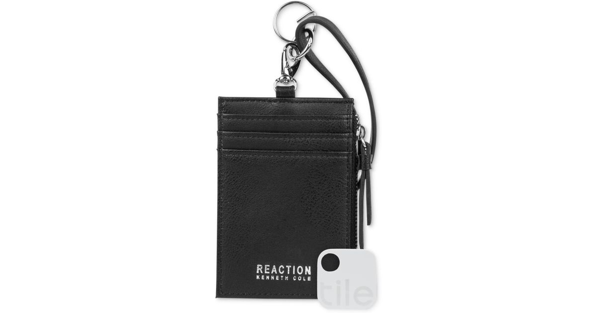 ad6a01a9c181 Kenneth Cole Reaction Lanyard Wallet With Tracker in Black for Men - Lyst