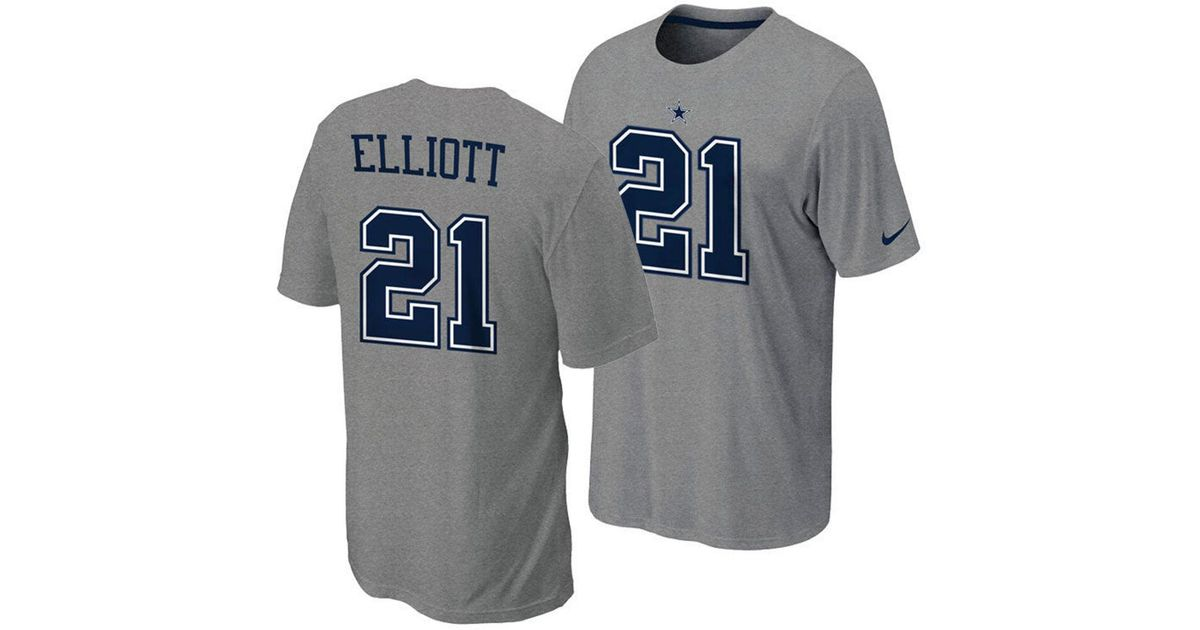 10a475e3bbd Lyst - Nike Ezekiel Elliott Dallas Cowboys Pride Name And Number Wordmark T- shirt in Gray for Men