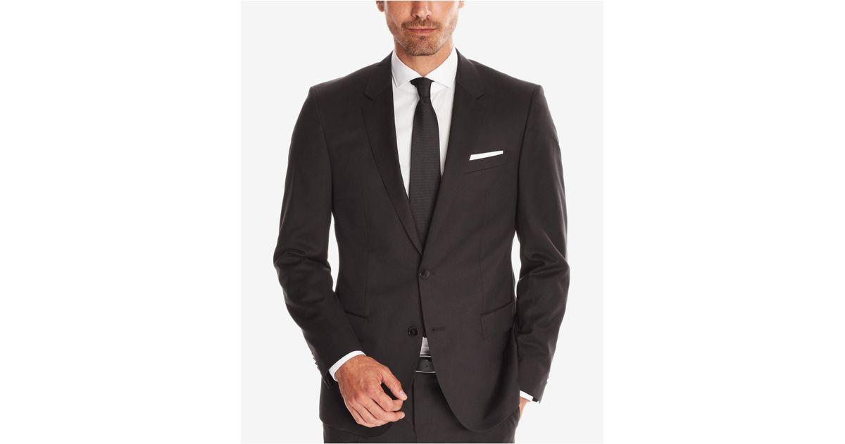 3cb91bfd4 BOSS Men's Slim-fit Super 120 Italian Virgin Wool Sport Coat in Black for  Men - Lyst