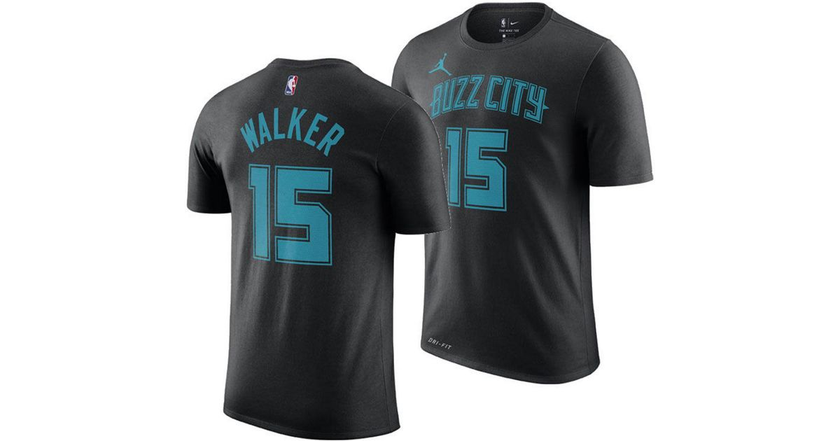 d003c91c3a8 Nike Kemba Walker Charlotte Hornets City Edition Jordan Dri-fit Nba T-shirt  in Black for Men - Save 31% - Lyst