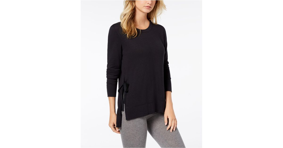 Lyst - UGG Quincy Side-tie Sleep Tunic in Black 4d60a41a0