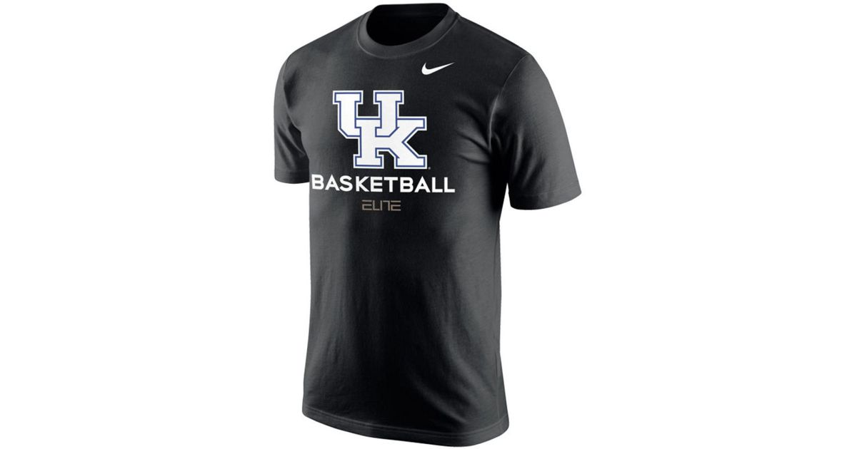 official photos 9c470 cb1ca Nike Black Kentucky Wildcats Basketball University T-shirt for men