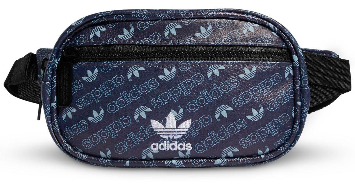 c8775ffcb8258 Lyst - adidas Originals Faux-leather Logo Waist Pack in Blue