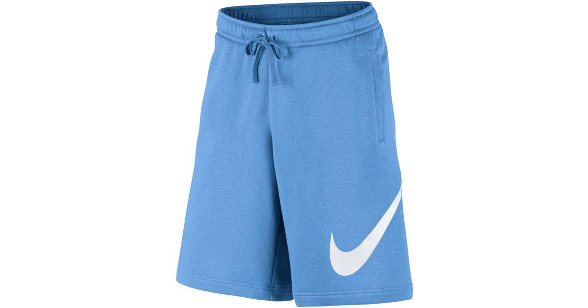 e26bb547cc8cdd Lyst - Nike Club Fleece Sweat Shorts in Blue for Men