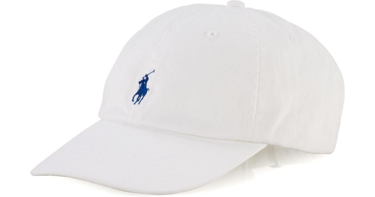 6b8e6a1fcf2494 Lyst - Polo Ralph Lauren Classic Sport Cap in White for Men - Save 28%