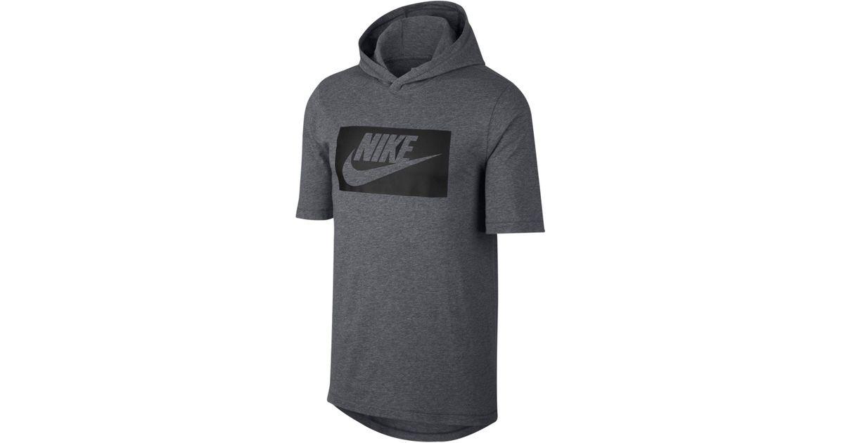 a6d70aa4 Nike Sportswear Futura Hooded T-shirt in Gray for Men - Lyst