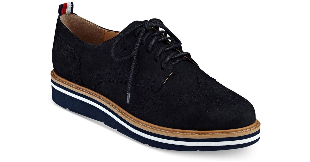 a88aa5f0d Lyst - Tommy Hilfiger Kabriele Oxford Flats in Black for Men