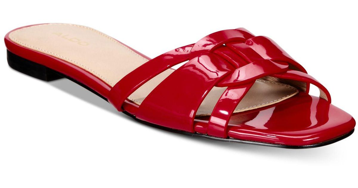 5503d8765aa Lyst - ALDO Astirassa Slide Sandals in Red