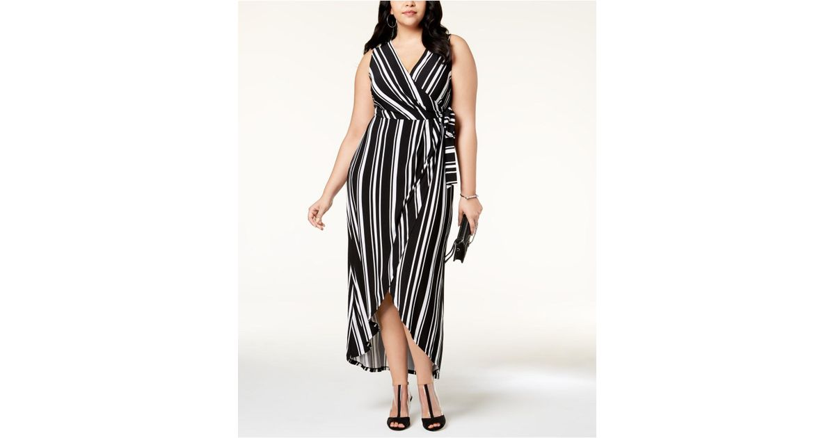 INC International Concepts I.n.c. Plus Size Striped Faux-wrap Maxi ...